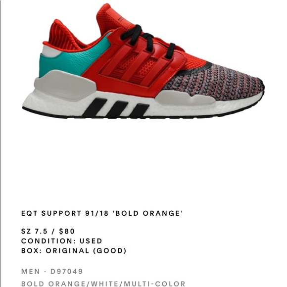 "EQT support 98/18 ""Bold Orange"""